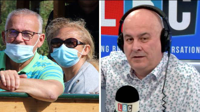 Iain Dale clashed with a caller over Matt Hancock's responsibility for the lost Covid cases