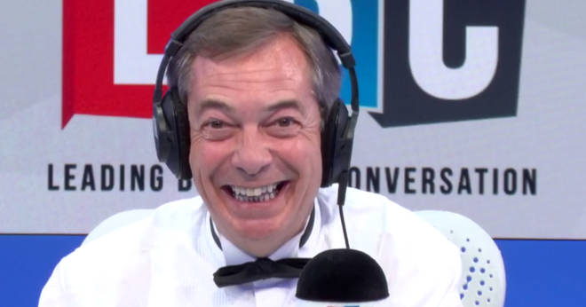 Nigel Farage was just as surprised as his caller