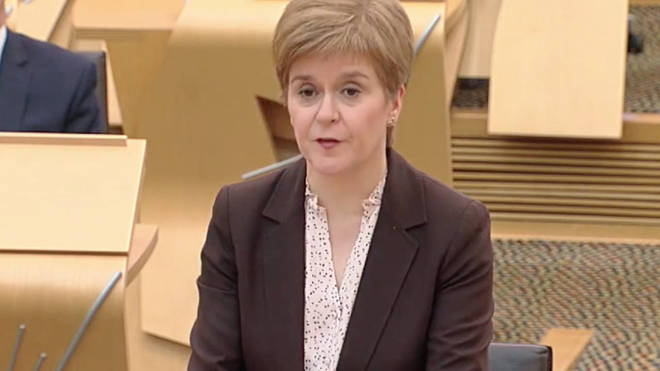 Nicola Sturgeon spoke in Holyrood