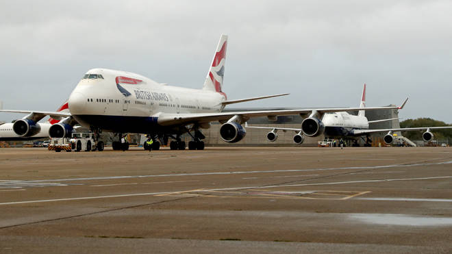 The two BA planes took off from Heathrow for the final time today