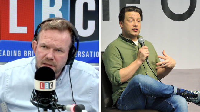 "Jamie Oliver tells James: ""We have got to protect the trust and the capacity to be best of practice, and to not stack it high and sell it cheap."""