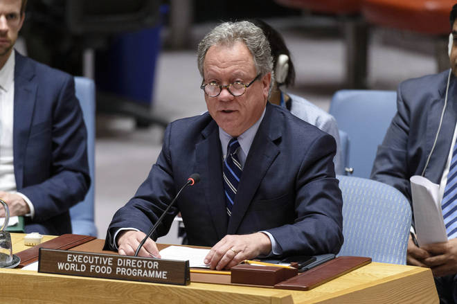 "David Beasley praised the ""family"" at WFP upon hearing the news"