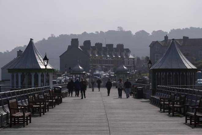 Garth Pier In Bangor, Wales