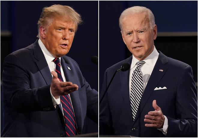 The second debate between President Trump (left) and Joe Biden has been cancelled