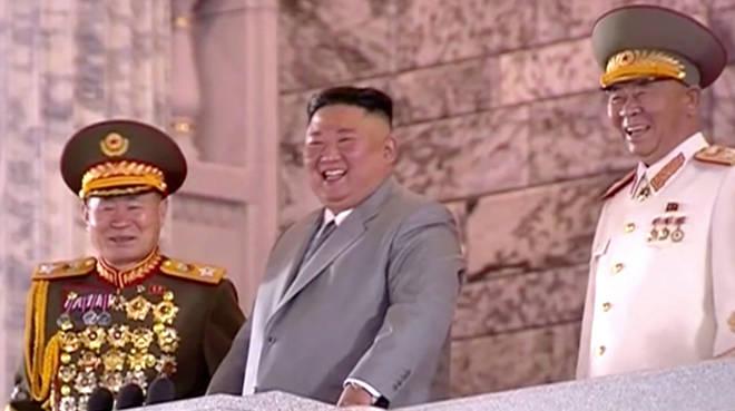 Kim Jong-un has claimed North Korea is coronavirus free as he led a military parade