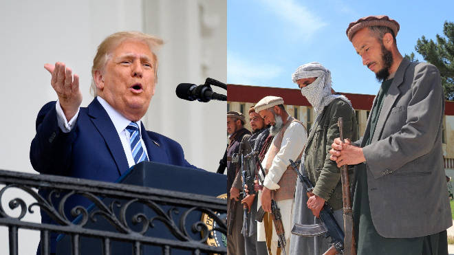 The Taliban has given its support to Donald Trump ahead of the US presidential election