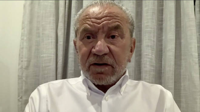 Lord Sugar hinted that the Government need to be cautious in their support packages