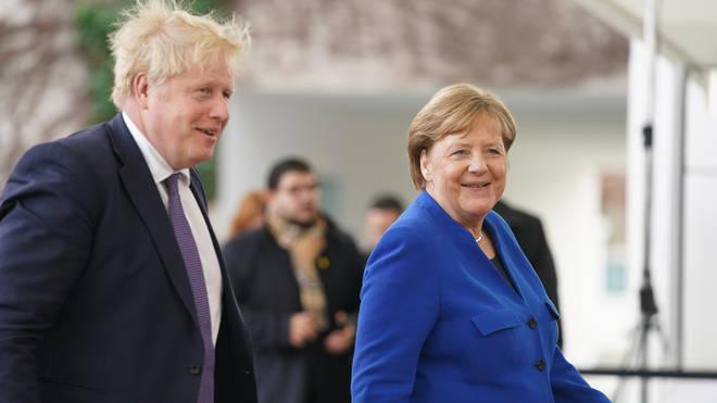 Angela Merkel met Boris Johnson in January this year