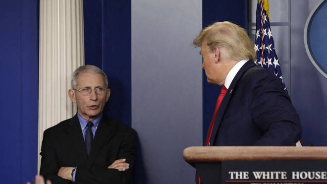 """Dr Anthony Fauci has criticised the Trump campaign for taking his quotes """"out of context"""""""