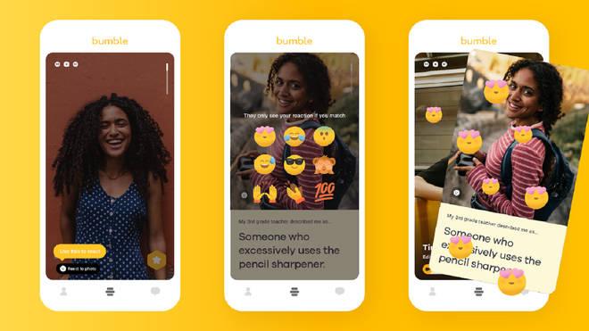 Bumble emoji reactions