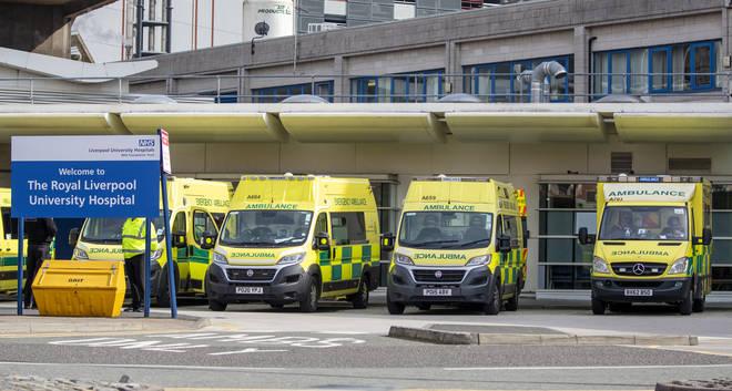 File photo: Ambulances outside the Royal Liverpool University Hospital