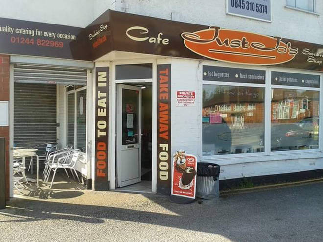 Just Jo's cafe is on the Welsh border
