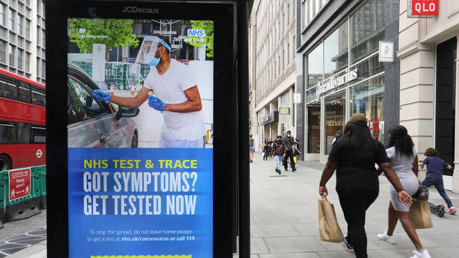 NHS test and trace reached just 63% of contact this week
