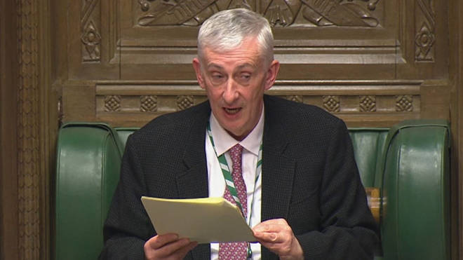 Sir Lindsay Hoyle will ban the sale of alcohol in Commons bars from Saturday