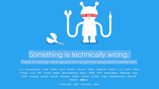 Twitter appears to have crashed leaving users without access to the social media network