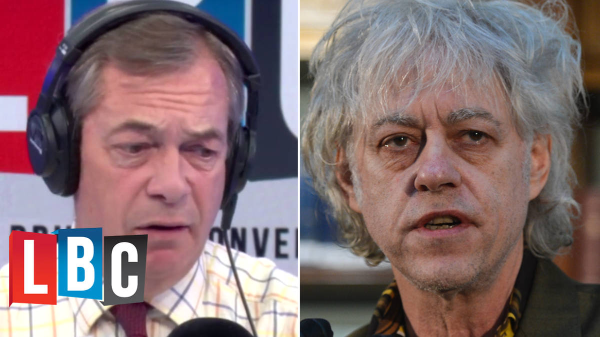 Nigel Farage Reacts To Bob Geldof's Brexit Letter