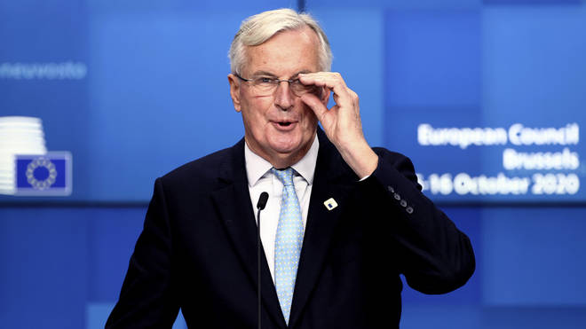 """The Prime Minister&squot;s official spokesman, in a briefing on Friday, said there was """"no point"""" in Mr Barnier travelling to London"""