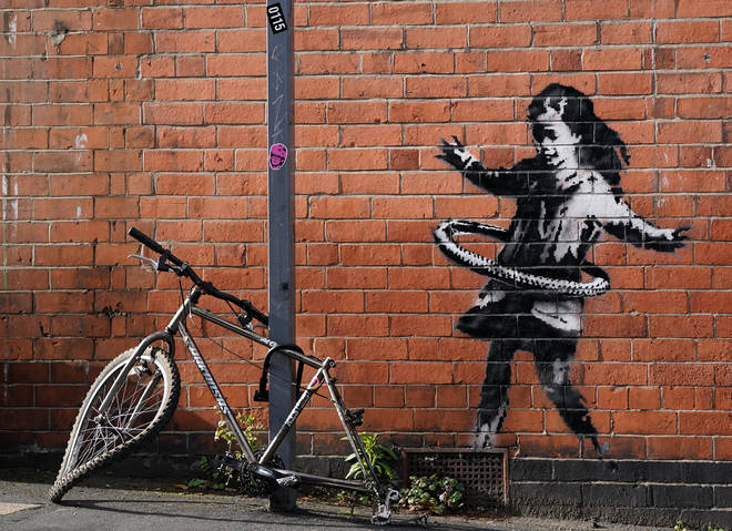 The artwork has been confirmed as the work of street artist Banksy