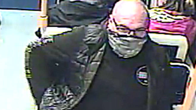 Lancashire Police released this CCTV image of a man who they want to speak with