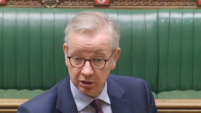 Michael Gove was addressing MPs in the Commons on Monday