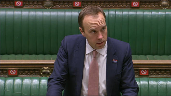 Matt Hancock delivered a Commons statement on Monday