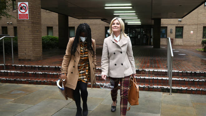 Former Blue Peter presenters Diane-Louise Jordan (left) and Anthea Turner (right) gave evidence defending their former colleague