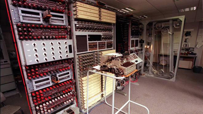 Codebreaking equipment used during World War II at the wartime intelligence centre at Bletchley Park (file image)