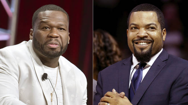 Curtis '50 Cent' Jackson, left, and Ice Cube
