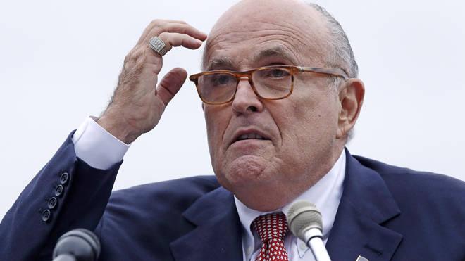 Rudy Giuliani said the clip was a 'fabrication'