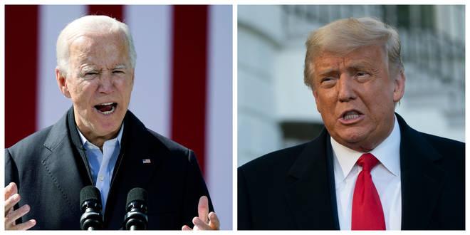 Joe Biden and Donald Trump will go head to head on Friday morning