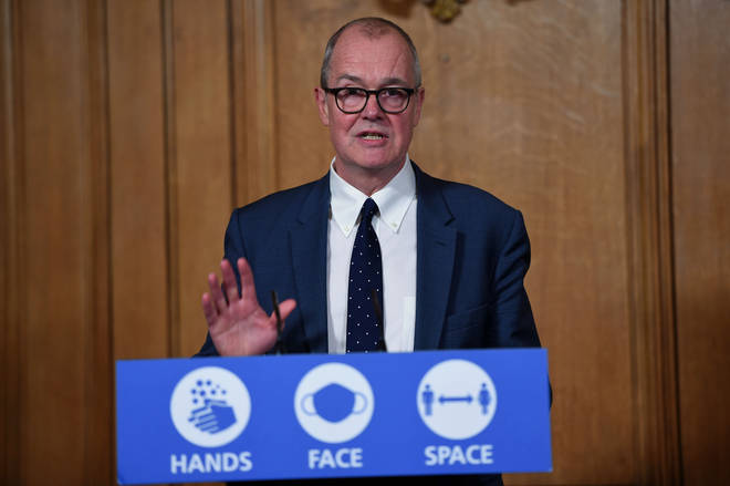 Sir Patrick Vallance has said around 1,000 people per day are entering hospital