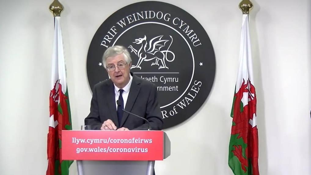 Wales begins 'firebreak' lockdown at 6pm today