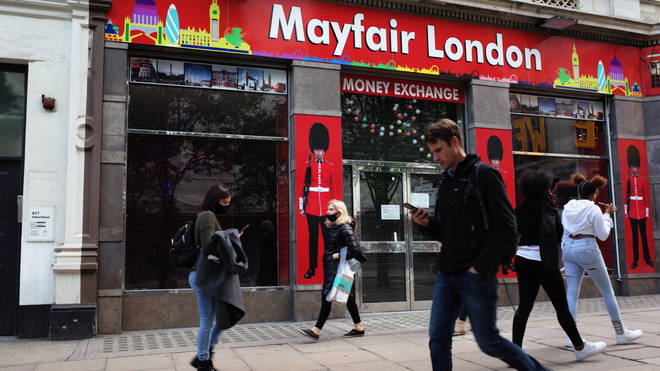 A closed tourist shop in central London. Sadiq Khan has warned the capital will lose out on nearly £11bn
