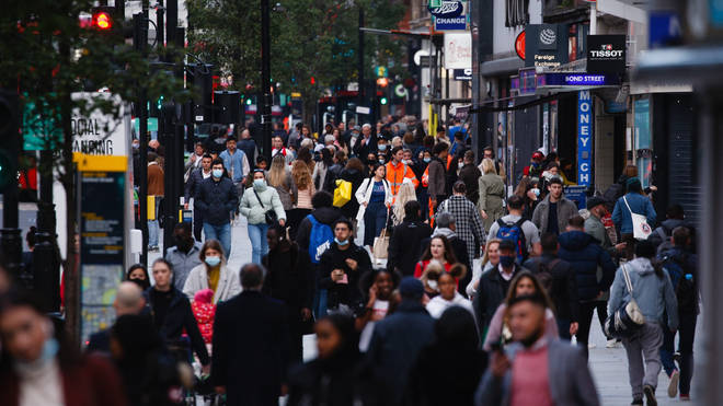 Millions of people face tougher restrictions from today. London, pictured, is in Tier 2