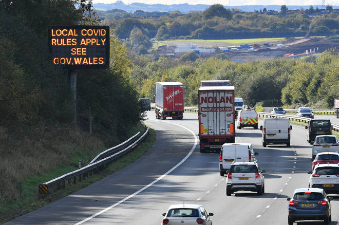 Police in England will attempt to block non-essential journeys out of Wales while the country is under the two-week firebreak lockdown