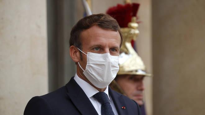 French President Emmanuel Macron (Charles Platiau/AP)