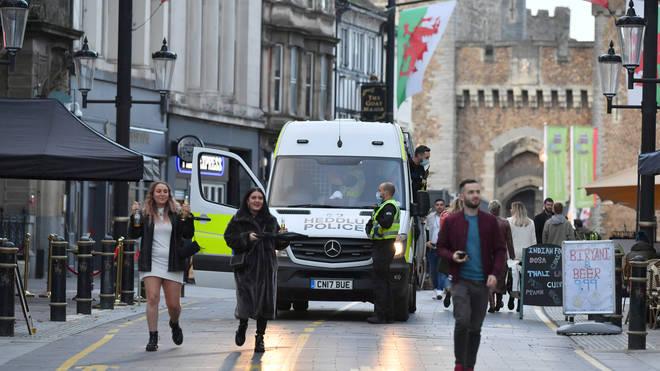 A two-week national lockdown has begun in Wales