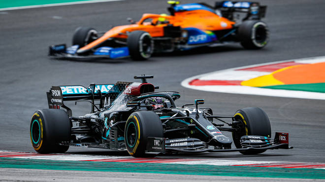 Lewis Hamilton - in his Mercedes - is leading the world championship