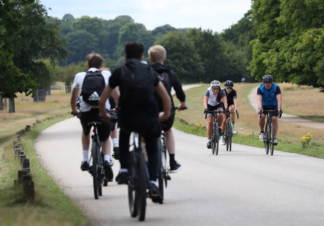 File photo: Cyclists travel through Richmond Park as the Government launches a strategy to get more people cycling