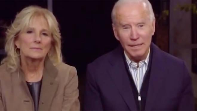 Mr Biden made the gaffe during an online rally