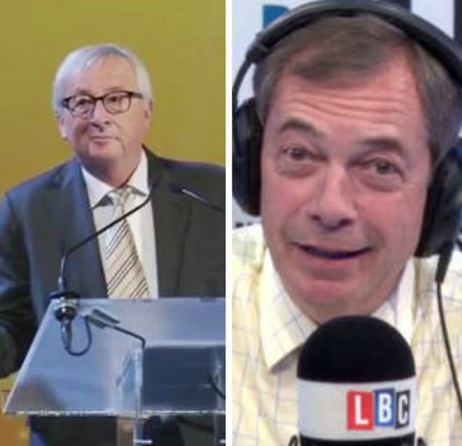 Nigel Farage gave his reaction to Juncker's dancing