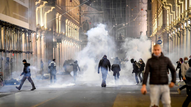 Violence erupted in Italy and Spain over lockdown