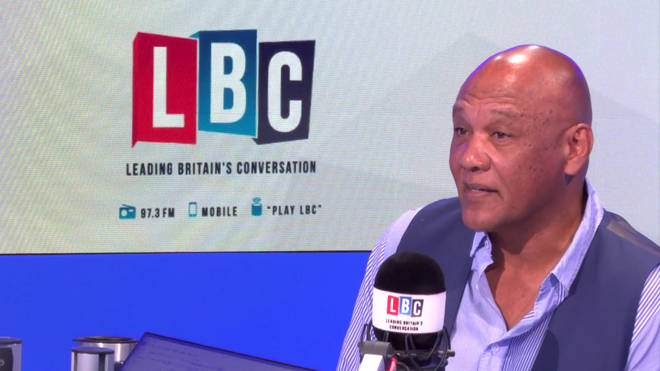 Wayne Bayley speaking to Nick Ferrari in the LBC studio.