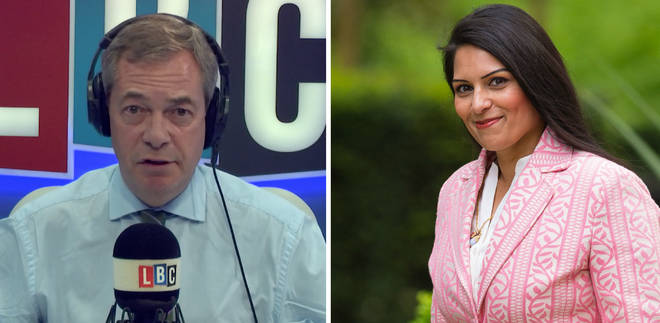 Nigel Farage Priti Patel