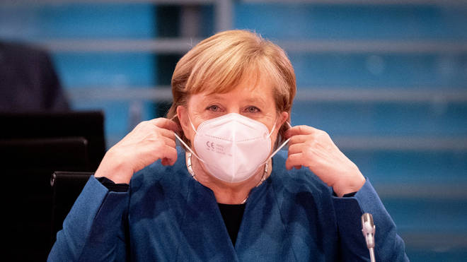 """Angela Merkel is has announced a """"lockdown light"""" to stem the increase in Covid cases"""