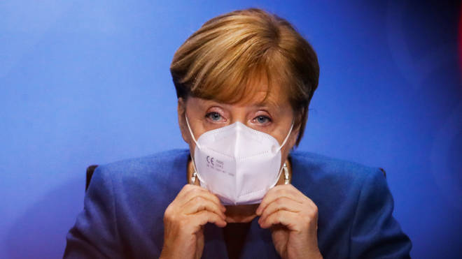 Earlier this afternoon, Germany's Angela Merkel also announced that a new four-week partial lockdown would be imposed.