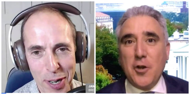 James Delingpole and Simon Marks clashed over who would the best President to get a free trade deal with the UK