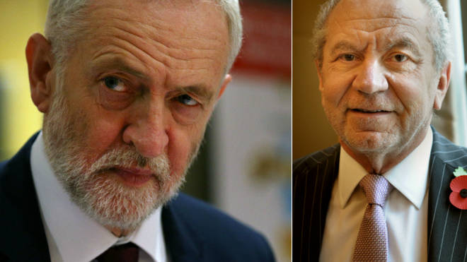 Lord Sugar didn't hold back in his criticism of Jeremy Corbyn