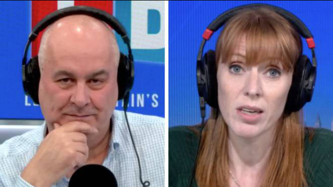Angela Rayner told Iain Dale she was gutted Corbyn's suspension was stealing Thursday's headlines