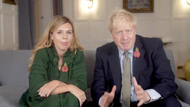 Boris Johnson and his fiancee, Carrie Symonds appeared for their first joint television appearance